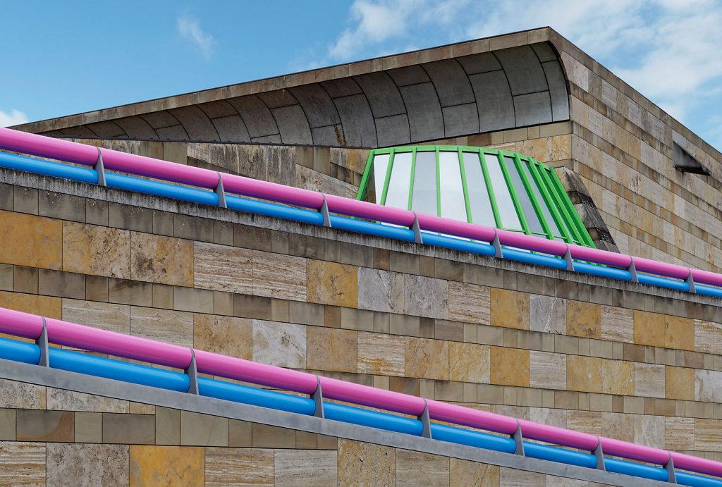 Staatsgalerie Stuttgart / Arch. James Stirling